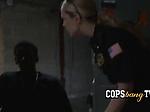 Milf cops take suspect to random safe house to take adv