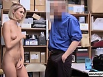 Shoplifter Emma Hix gets bang in the office by LPs cock