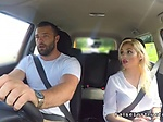 Very hot busty examiner bangs in car