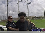 Bisexual BUSTY cops share black thumpingcock on top of