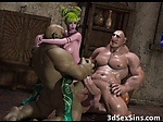 3D Busty Elf Girl Wrecked by Ogres