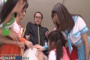 Japanese schoolgirls fuck their fitness teacher Japanese schoolgirls fuck their fitness teacher