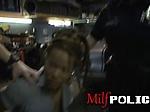 Gorgeous milf cops arrest and fuck mechanic shop owner