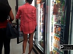 Asian chick gets seduced at local store into going home