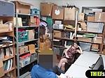 Cute brunette chubby shoplifter gets fucked on CCTV