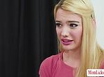 Damn beautiful Teen Kenna lures London into lesbian sex