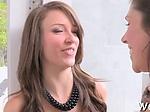 Babe makes her girlfriend cum