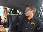 Monster tits driving student banging