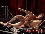 Bound slave licks pussy and crazy rough fast Poor tiny