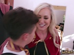 Blonde milf jerks off xxx Halloween Special With A Thre