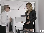 Beautiful TS Casey fucks her assistant Chads anal from