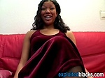 Black honey loves riding white schlong on couch