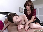 Step mom and partner same bed in hotel Lewd Mother dudd