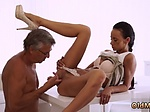 Old man xxx Finally shes got her chief dick