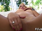 Nasty slut cums from dickriding