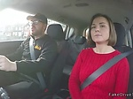 Driving instructor bangs busty student in car