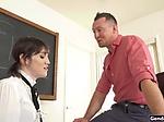 Busty ts teacher Lena Moon suck and anal
