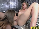Two hot lesbian sluts in pussy licking action