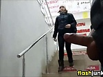 Guy Flashing His Dick In Public