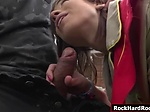 Teen girlscout throats and double penetrated by two big