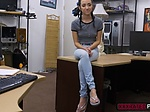 Charming babe Kiley Jay trades sex with a pawndude for