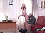 Pretty schoolgirl is seduced and penetrated by senior t