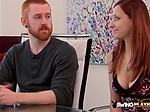NAUGHTY redhead wife goes BISEXUAL at the SWINGER PARTY