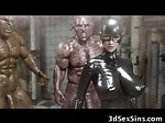3D Superheroine Gangbanged by Mutan...