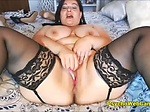 Cute BBW Homemade Webcam Show with Huge Toys