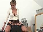 Unfaithful british milf lady sonia displays her massive