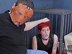 Food bondage and punish my ass Analmal Training