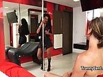 Ebony sheshaft banged male ass
