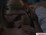 Blonde attorney licked by her girlfriend