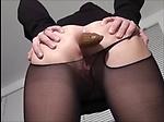 Girl shitting in pantyhose