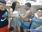 Tranny Kitchen Action with Dudes and BBW