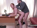 Sweet schoolgirl gets tempted and penetrated by elder i