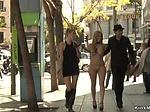 Blonde in high heels shamed outdoor