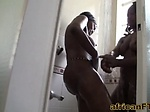 Two amazing African babe getting slammed hard in a inte