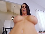 Step mom almost caught Hot MILF For His Birthday