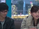 Young Japanese Couple Sex In Tv Show Glass Walls 26