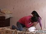Lustful babe Alisha blows before doggy