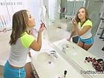 Tight brunette teen spinner bangs huge dick