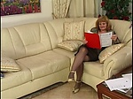 Hot Granny Fucks On The Couch