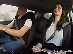 Milf examiner fucks in driving school car