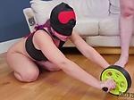 Bondage jerk off and rough extreme choke AssSlave Yoga