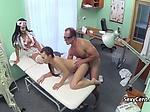 Doctor fucks patient and nurse