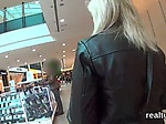 Glamorous czech chick gets teased in the supermarket an