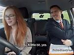 Slim redhead banged her driving examiner