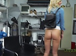 Hot blonde gets penetrated deeply by directors BBC