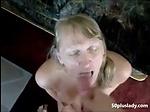 Mature wife sucking dick and get a big facial